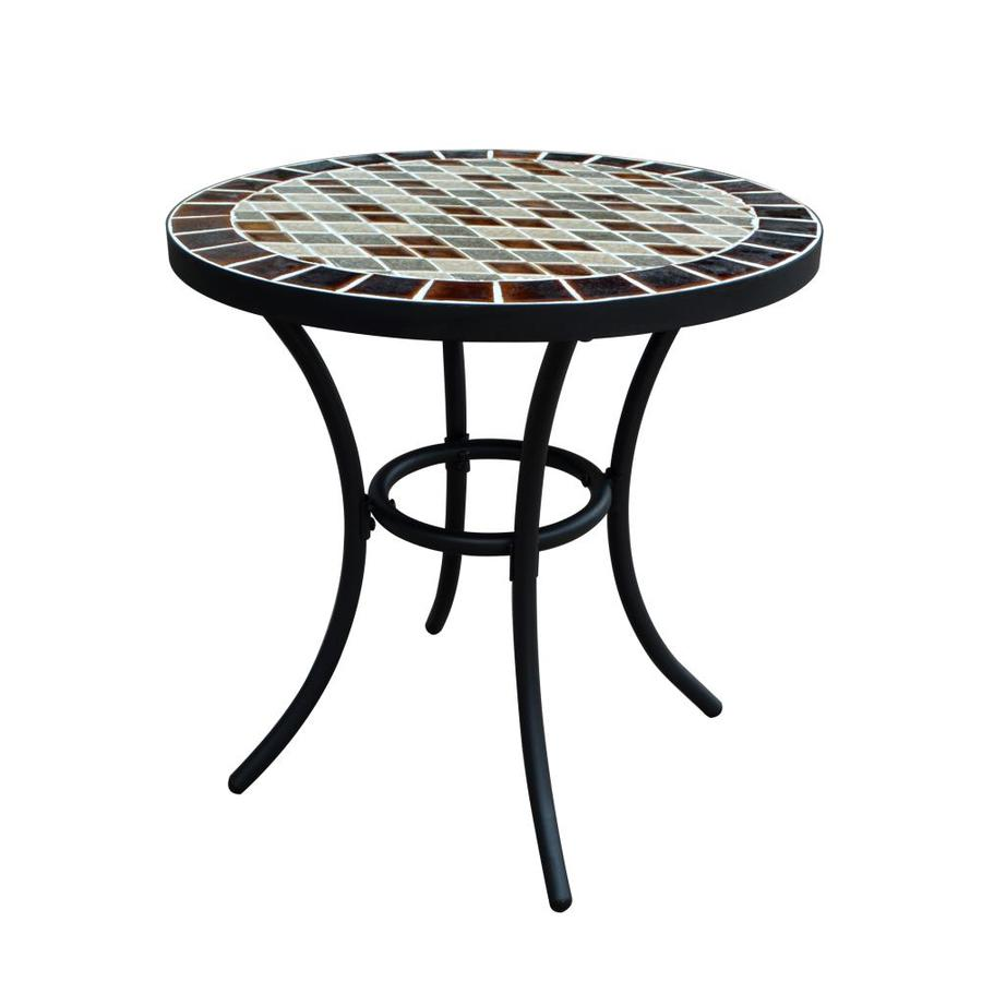 Garden Treasures Pelham Bay Round Bistro Table 20 In W X L