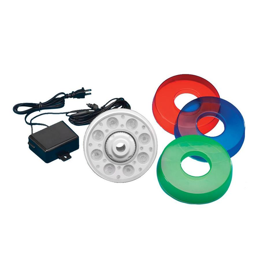 Blue Wave Thru-Wall 8-Watt (50W Equivalent) White with Color Lenses LED Pool Light