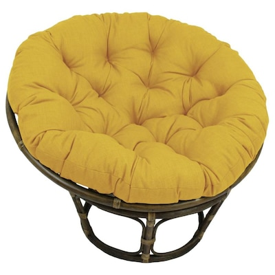 Prime Blazing Needles 44 In Solid Outdoor Spun Polyester Papasan Andrewgaddart Wooden Chair Designs For Living Room Andrewgaddartcom