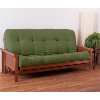 Blazing Needles Vitality 10 In Microsuede Queen Size Futon
