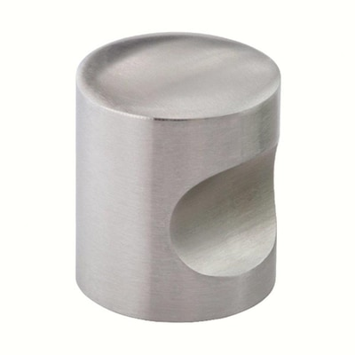 Siro Designs Stainless Steel 1 In Fine Brushed Stainless Steel Cylindrical Contemporary Cabinet Knob In The Cabinet Knobs Department At Lowes Com