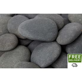 Rain Forest 2200 Lb Gray Large Mexican Beach Pebbles