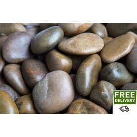 Rain Forest 2200 Lb Brown Polished Pebbles