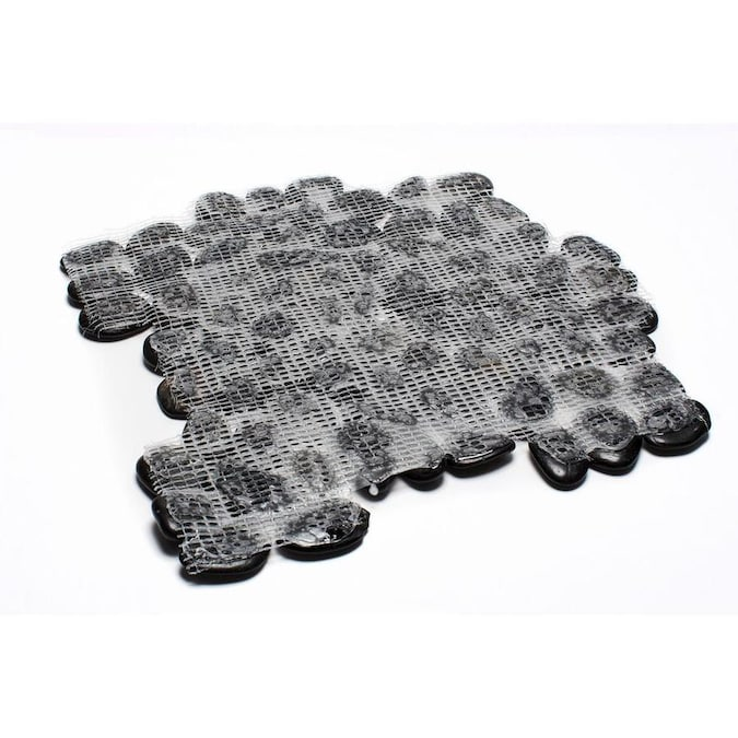 Rain Forest Polished Pebble Tiles 5 Pack Black 12 In X 12