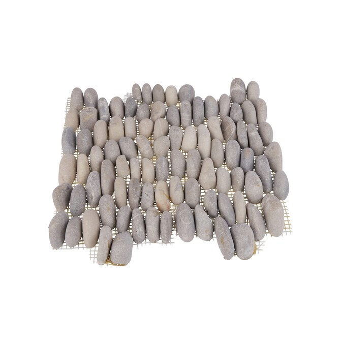 Rain Forest Stacked Pebble Tiles 5 Pack Grey 12 In X 12 In