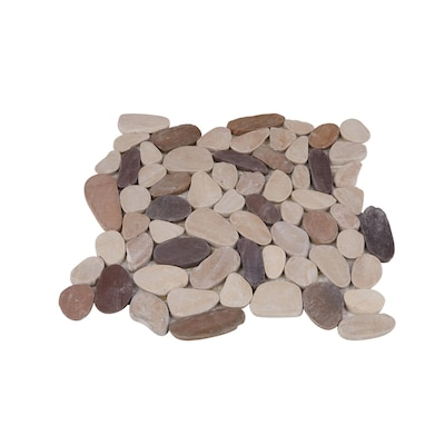 Rain Forest Sliced Pebble Tiles 5 Pack Tan Brown And Cherry