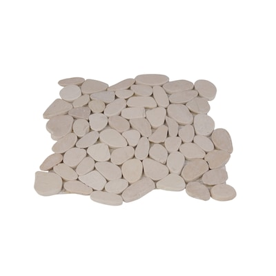 Honed Sliced Pebble Tiles 5 Pack White 12 In X Mosaic Floor Tile Common Actual