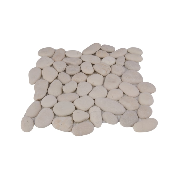 Rain Forest Natural Pebble Tiles 5 Pack White 12 In X 12