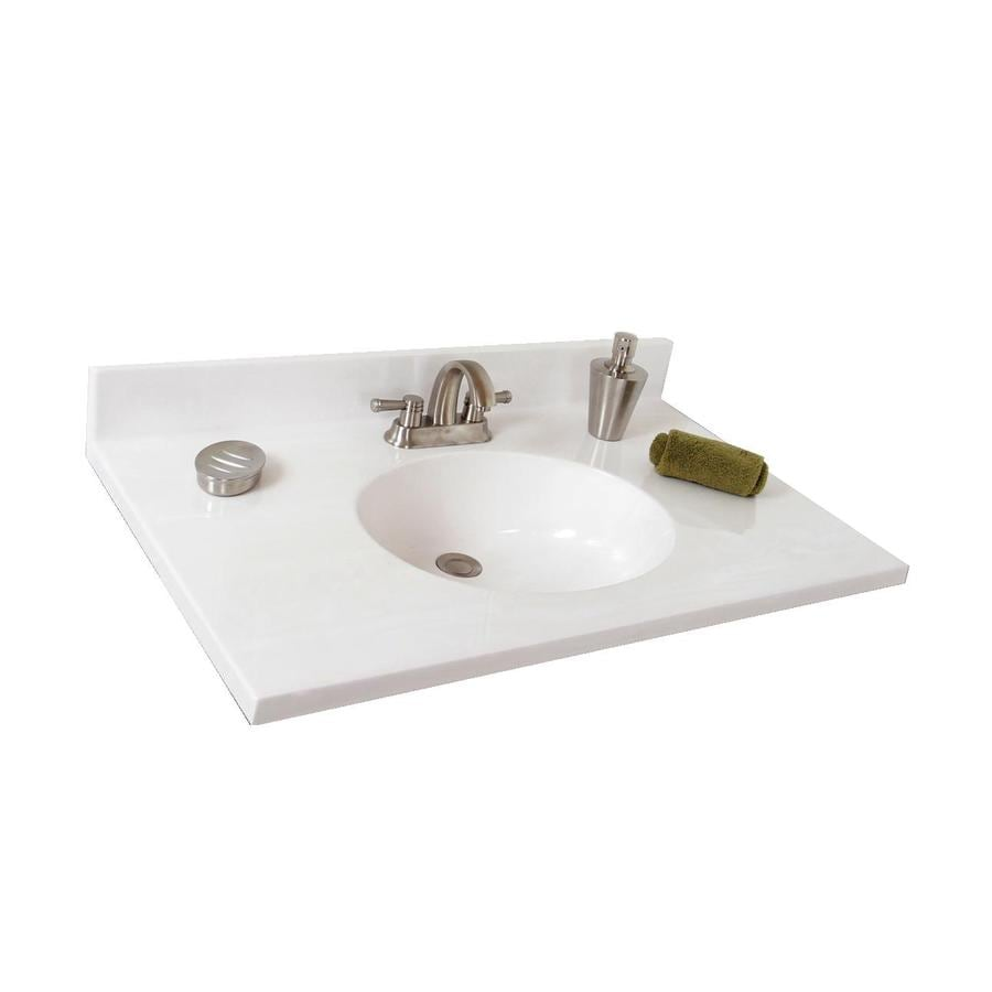 cultured marble bathroom sinks shop style selections oval white on white cultured marble 18008