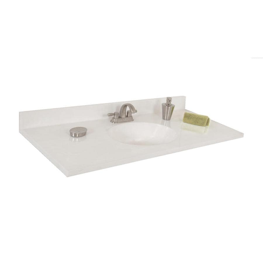 Style Selections Oval White On White Cultured Marble