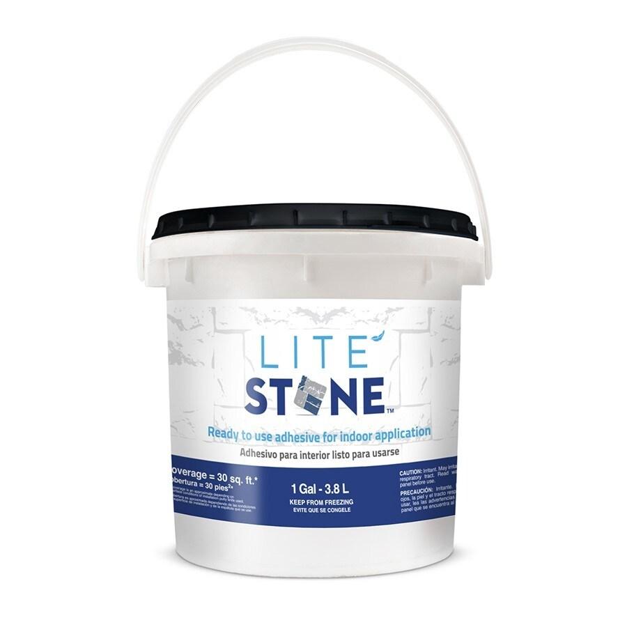 Shop litestone 128 fl oz stone veneer adhesive at for Glue on brick veneer