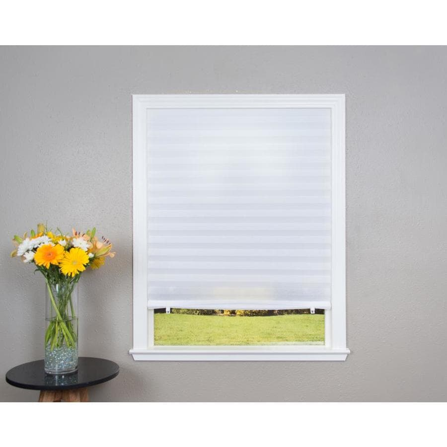 Redi Shade White Light Filtering Cordless Paper Pleated Shade (Common: 36-in; Actual: 36-in x 72-in)