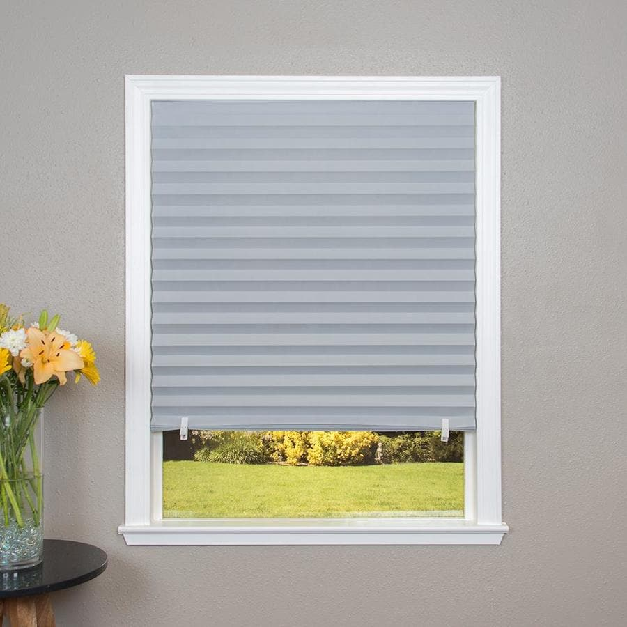Redi Shade Grey Room Darkening Cordless Paper Pleated Shade (Common 36.0-in; Actual: 48.0-in x 72.0-in)