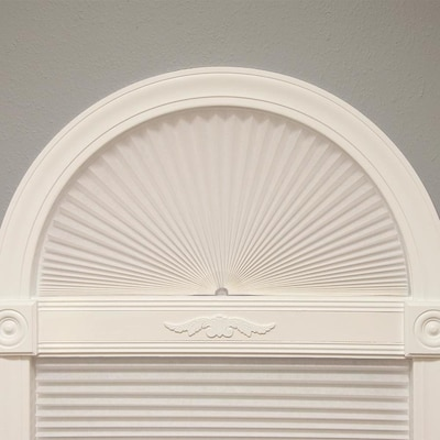 White Light Filtering Cordless Pleated Arch Shade Actual 72 In X 36