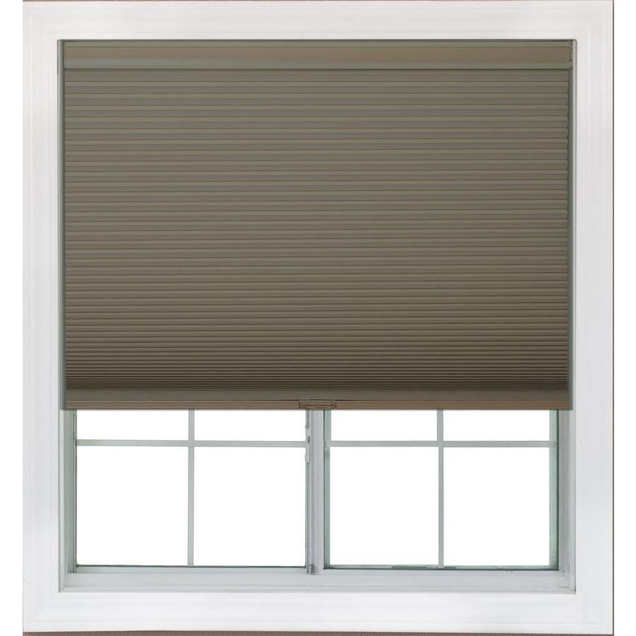 Redi Shade 58.625-in W x 72-in L Mocha Blackout Cellular Shade
