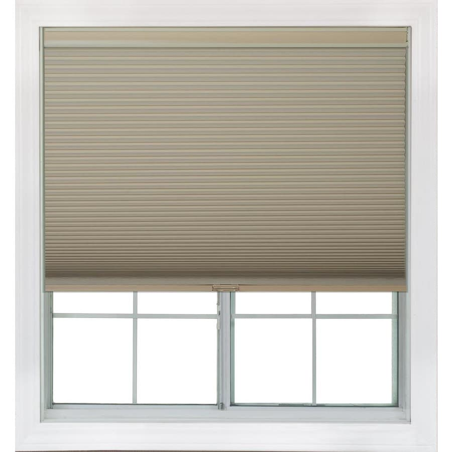 Redi Shade 19.375-in W x 72-in L Khaki Blackout Cellular Shade