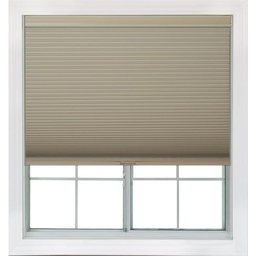 Redi Shade 21.25-in W x 72-in L Khaki Blackout Cellular Shade