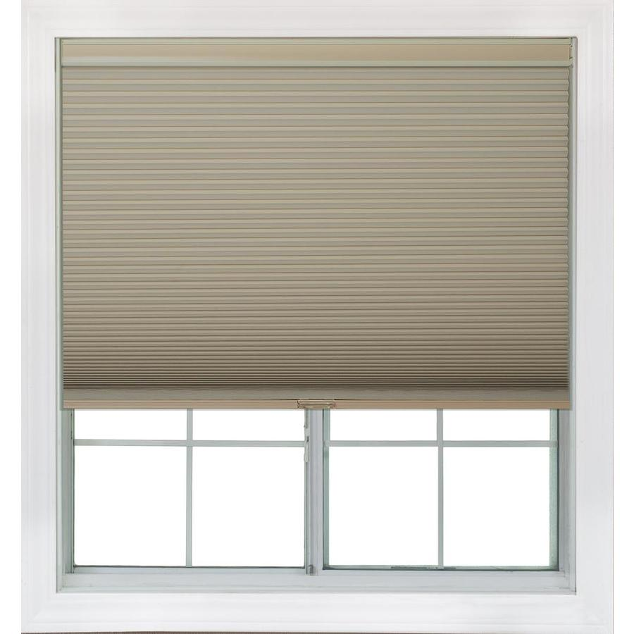 Redi Shade 57.375-in W x 72-in L Khaki Blackout Cellular Shade