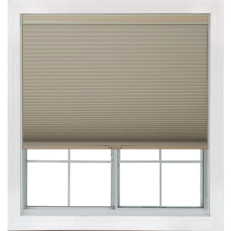 Redi Shade 63.375-in W x 72-in L Khaki Blackout Cellular Shade