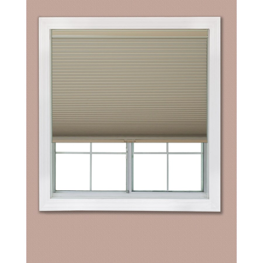 Redi Shade 64-in W x 72-in L Khaki Blackout Cellular Shade