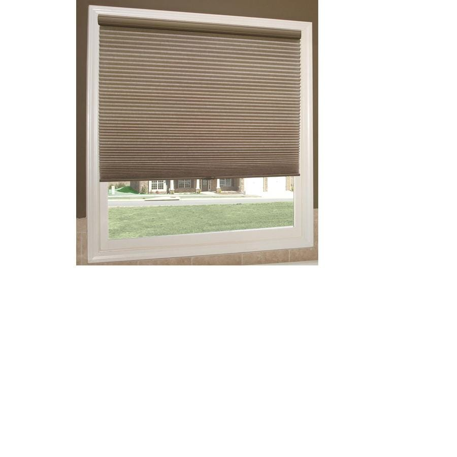 Redi Shade 25.25-in W x 72-in L Mocha Light Filtering Cellular Shade