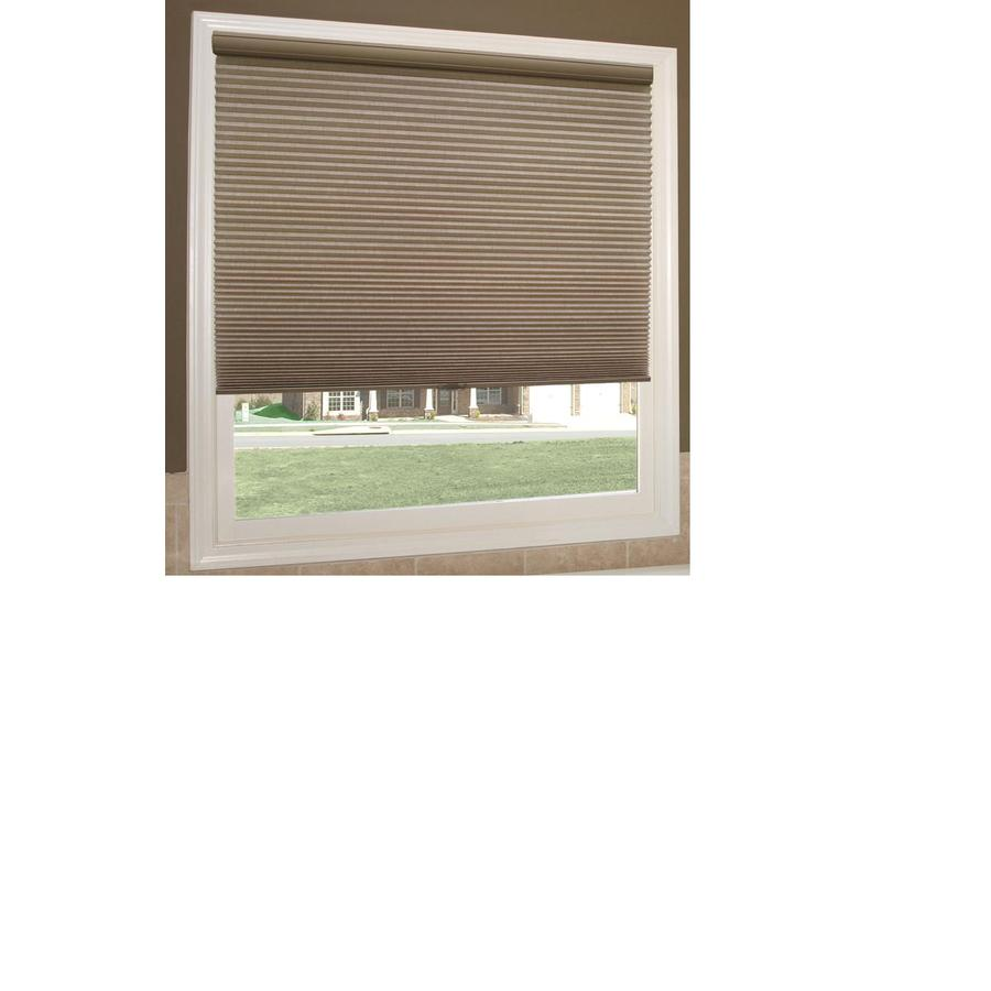 Redi Shade 26.125-in W x 72-in L Mocha Light Filtering Cellular Shade