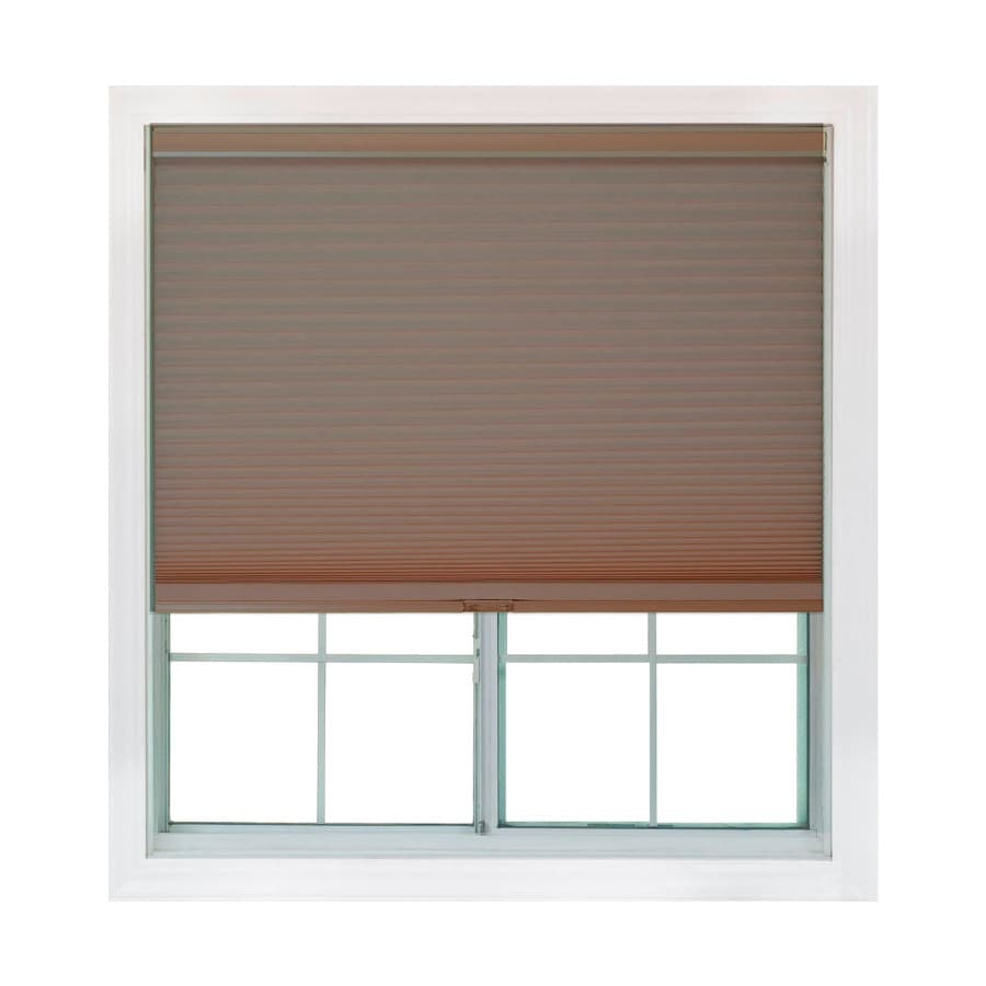 Redi Shade 55.875-in W x 72-in L Mocha Light Filtering Cellular Shade
