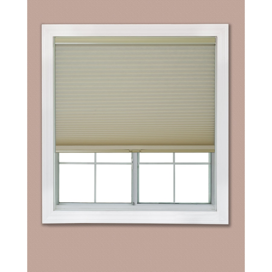 Redi Shade 22.125-in W x 72-in L Khaki Light Filtering Cellular Shade
