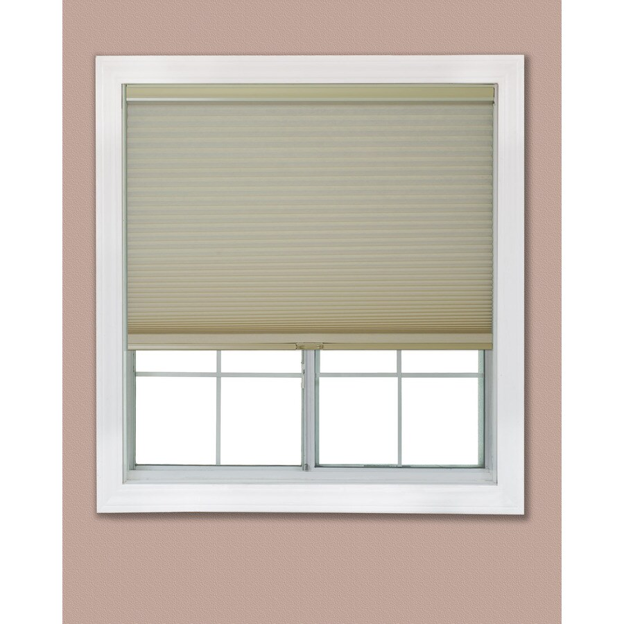 Redi Shade 24.875-in W x 72-in L Khaki Light Filtering Cellular Shade