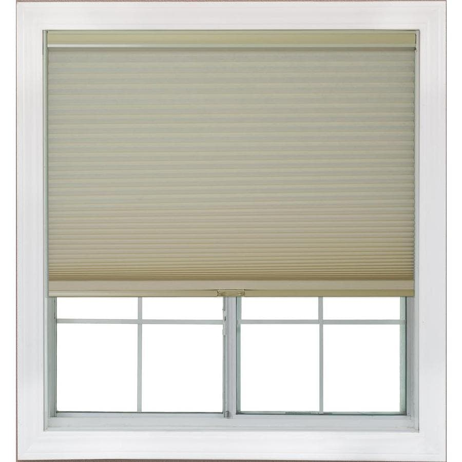 Redi Shade 62.625-in W x 72-in L Khaki Light Filtering Cellular Shade