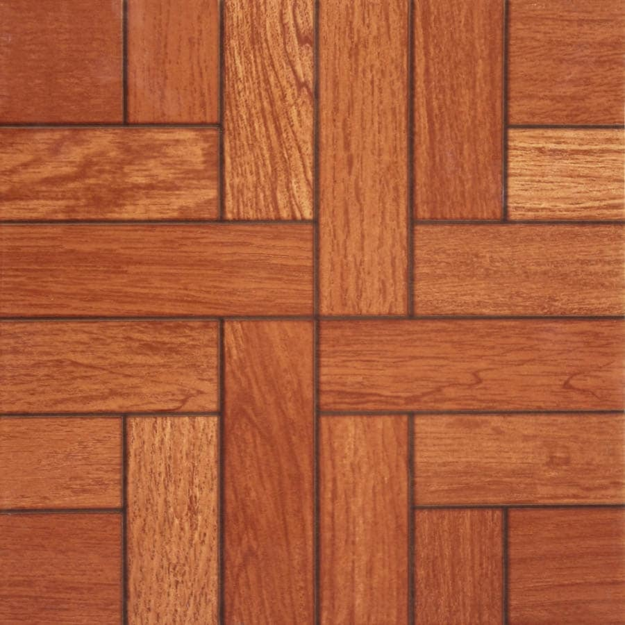 Shop Nitrotile Monroe Cognac Wood Look Ceramic Floor Tile Common