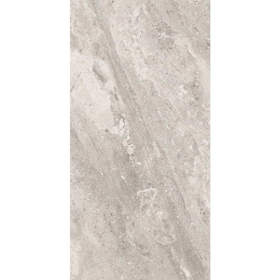 shop style selections trailden gray ceramic travertine floor and