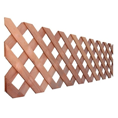 1 4 In X 96 In X 4 Ft Natural Redwood Redwood Privacy Lattice In The Lattice Department At Lowes Com