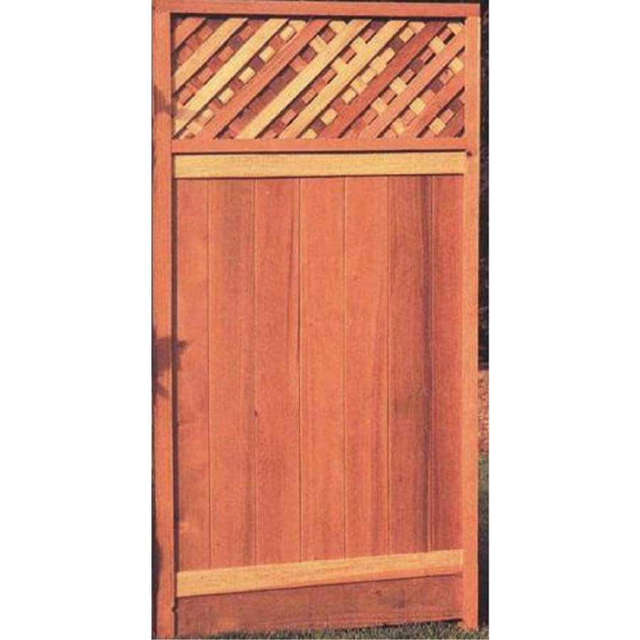 Top Choice Natural Redwood Privacy Fence Gate (Common: 6-ft x 3-ft; Actual: 6-ft x 3-ft)
