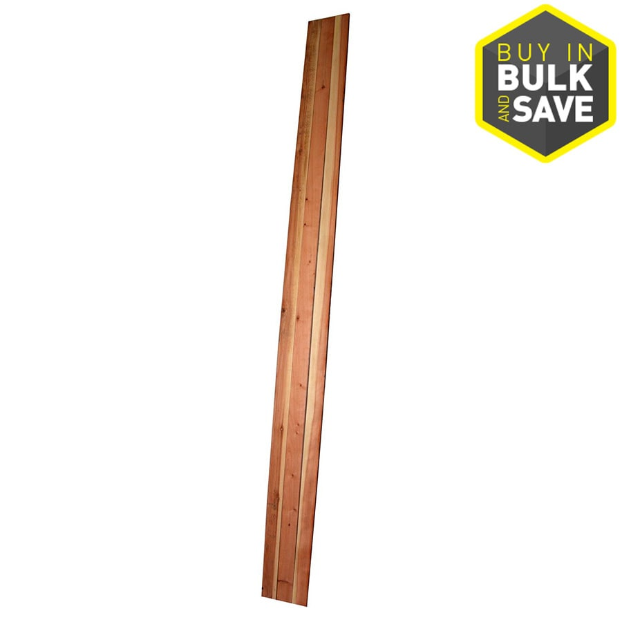 Top Choice (Common: 5/8-in x 3-1/2-in x 12-ft; Actual: 0.656-in x 3.625-in x 12-ft) Natural Redwood Fence Picket