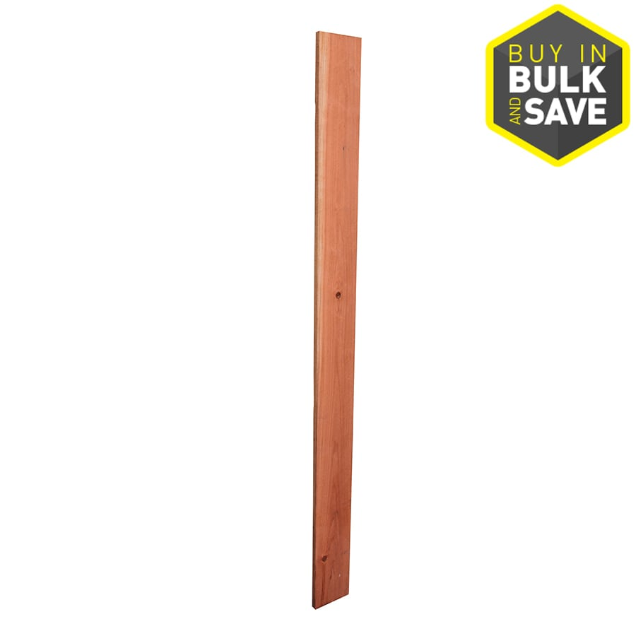 Top Choice (Common: 5/8-in x 5-1/2-in x 6-ft; Actual: 0.656-in x 5.625-in x 6-ft) Natural Redwood Fence Picket