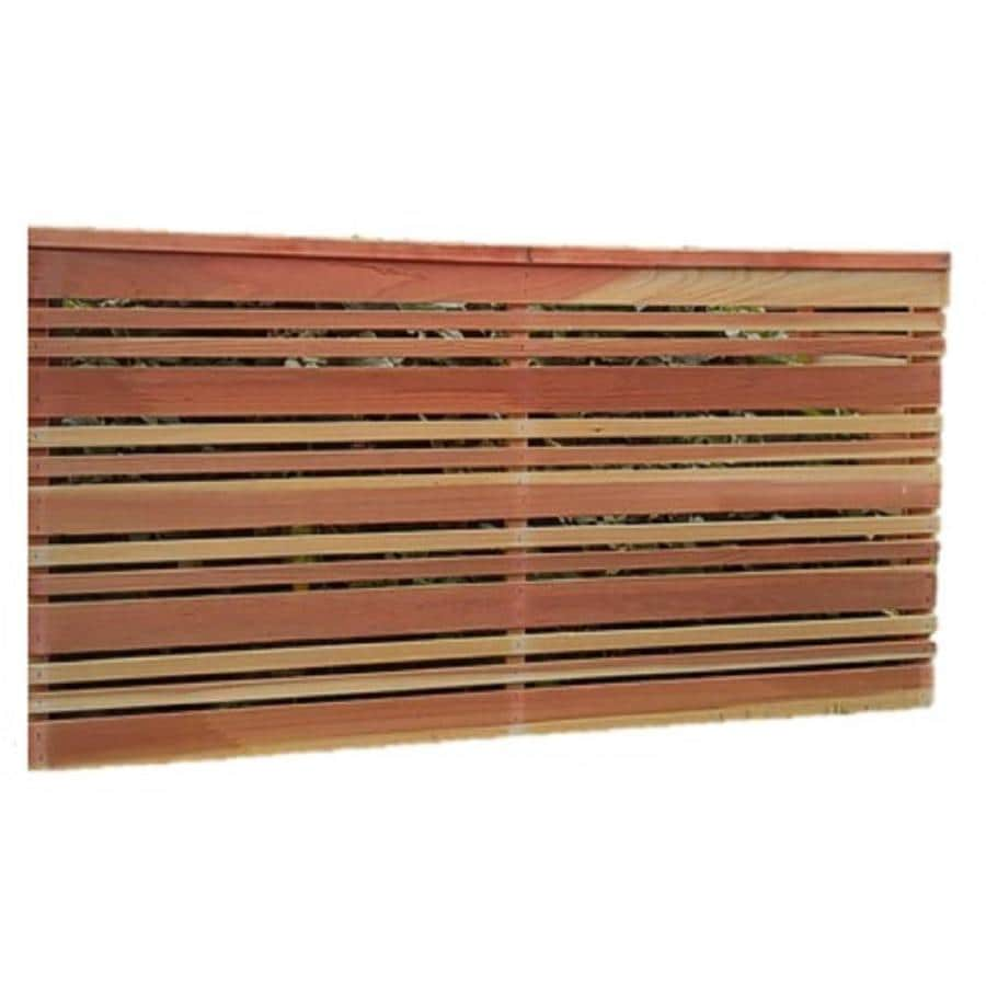 Top Choice (Common: 3-ft x 6-ft; Actual: 3.33-ft x 6-ft) Natural Redwood Fence Panel