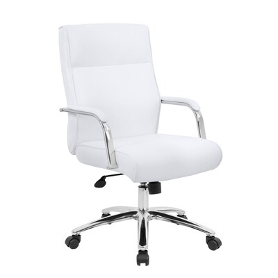 Fine Boss Office Products White Contemporary Manager Chair At Andrewgaddart Wooden Chair Designs For Living Room Andrewgaddartcom