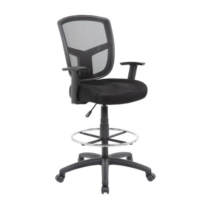 Brilliant Boss Office Products Black Contemporary Drafting Chair At Dailytribune Chair Design For Home Dailytribuneorg