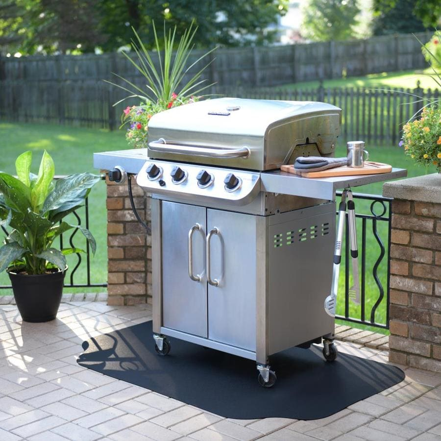 Deck Protecting BBQ Gas Grill Splatter Mat for Gas Electric Oven ...