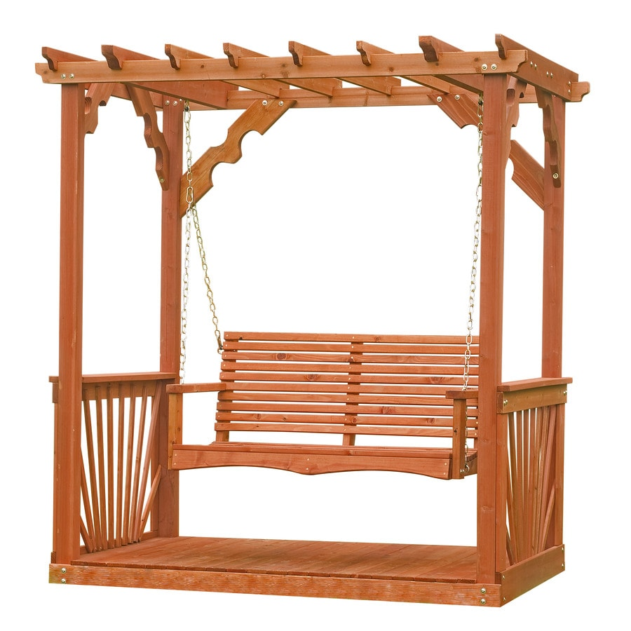 Leisure Time Products 2-Seat Wood Adirondek Pergola Swing