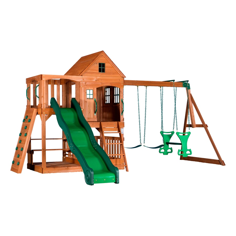 shop backyard discovery pacific view residential wood playset with