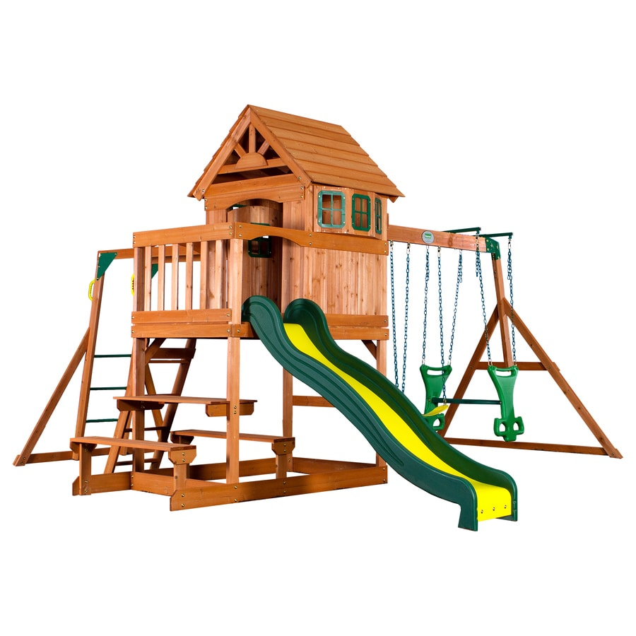 shop backyard discovery wood playset at
