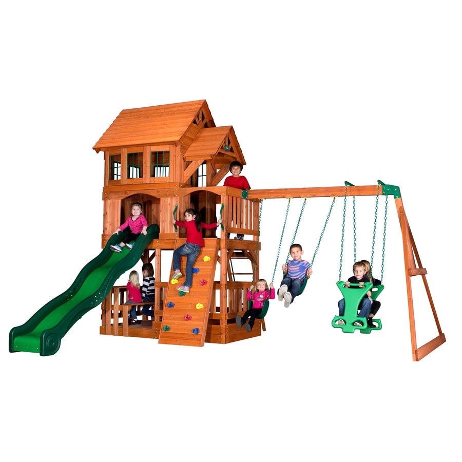 Backyard Discovery Liberty All Cedar Wood Playset with Swings