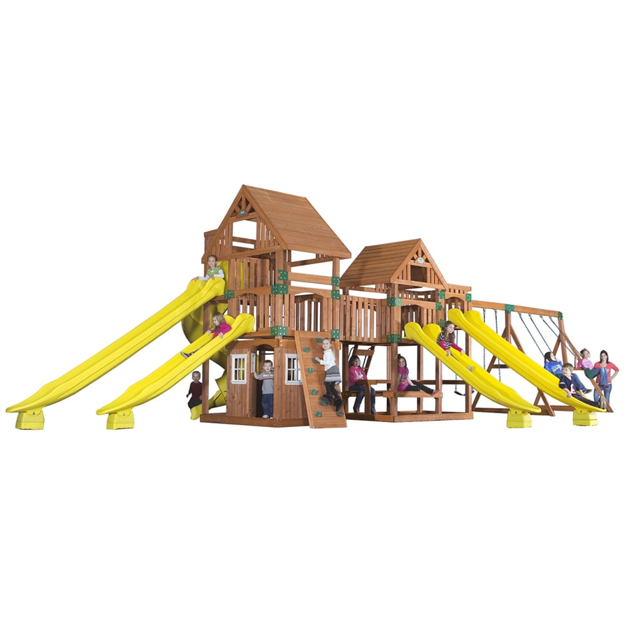 Backyard Discovery Safari All Cedar Wood Playset with Swings