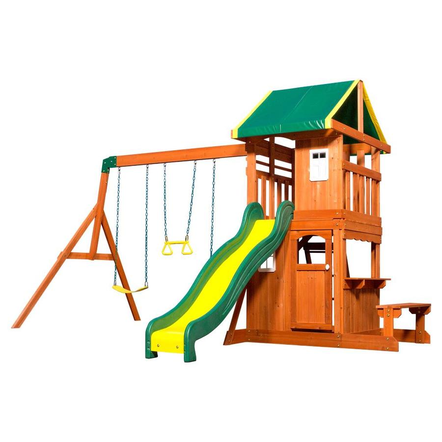 Wood Playsets Swing Sets At Lowes Com