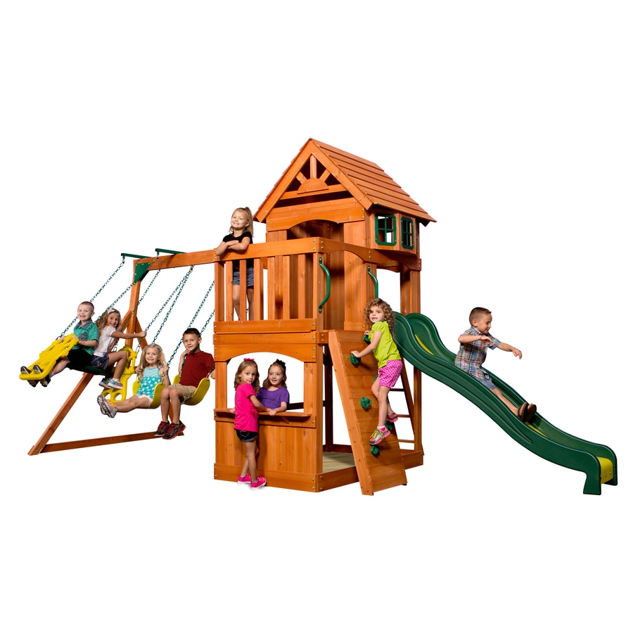 Backyard Discovery Atlantis Residential Wood Playset At Lowes Com