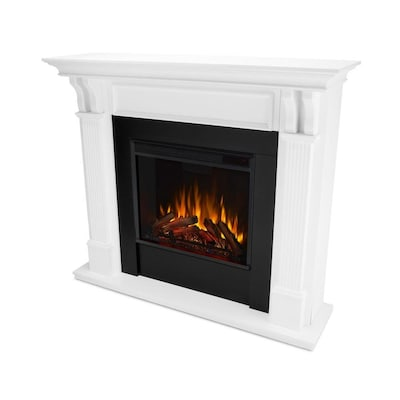 Real Flame 48 In W White Fan Forced Electric Fireplace by Lowe's