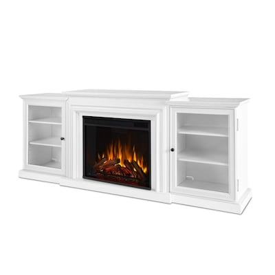 Real Flame 72 In W White Fan Forced Electric Fireplace At Lowes Com