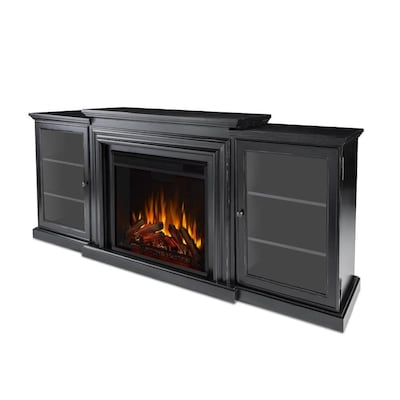 Real Flame 72 In W Blackwash Fan Forced Electric Fireplace At